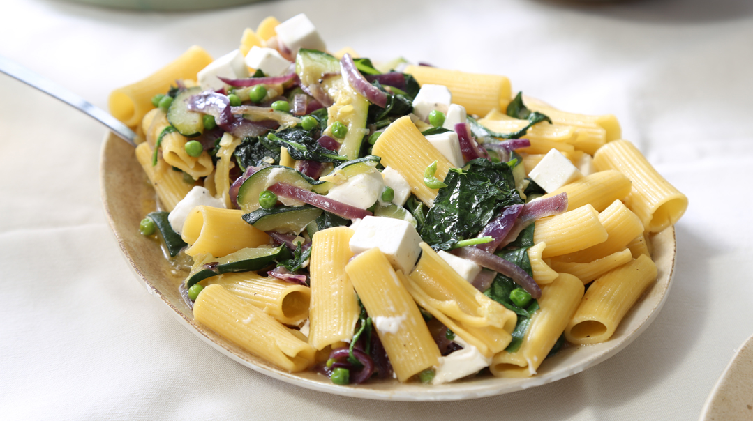 PASTA WITH LEAFY VEGETABLES AND FETA CHEESE – Mishpacha Magazine