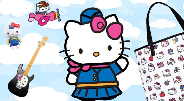 Hello Kitty Plane Button